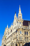 Detail of the town hall on Marienplatz, Munich Royalty Free Stock Image