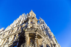 Detail of the town hall on Marienplatz, Munich Royalty Free Stock Images