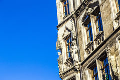 Detail of the town hall on Marienplatz, Munich Royalty Free Stock Photography