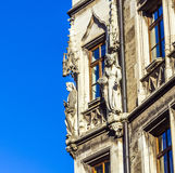 Detail of the town hall on Marienplatz, Munich Stock Images