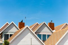 Detail of town houses. Royalty Free Stock Images