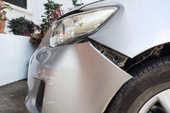 Detail of trace of car crash. Royalty Free Stock Image