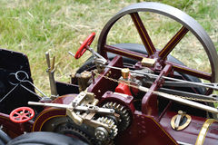 Detail of traction engine Royalty Free Stock Photo