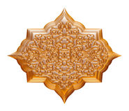 Detail from the traditional arabic jewellery on isolated white background. Stock Photos