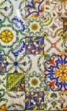 Detail of the traditional decorative tiles with majolica pattern stock photo