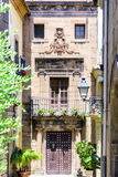 Detail of traditional house in Barcelona Stock Photos