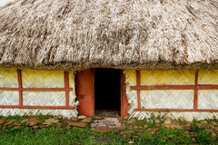 Detail of traditional house of Navala village, Viti Levu, Fiji Stock Photo