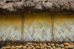 Detail of traditional house of Navala village, Viti Levu, Fiji Stock Image