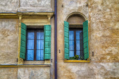 Detail of Traditional Italian Windows Royalty Free Stock Images