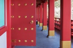 Detail of traditional Japanese door gate royalty free stock photography