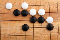 Detail of traditional japanese game GO Stock Photo