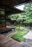Detail of traditional Japanese garden Stock Image