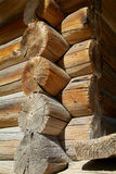 Detail of traditional log-cabin Royalty Free Stock Images