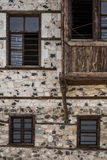Detail  of a Traditional Ottoman House with Stone Walls Stock Image