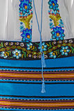 Detail of traditional Romanian folk costume from Banat area, Rom Royalty Free Stock Photos