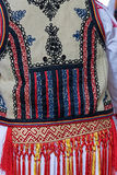 Detail from traditional Romanian folk costume for women. Specific on Banat area Royalty Free Stock Photo