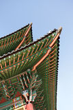 Detail of traditional roof at Korean Palace Stock Image