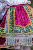 Detail of traditional Slovak folk costume worn by women Stock Photo