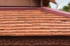 Traditional thai house roof and eave board Royalty Free Stock Images