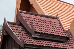 Traditional thai house roof and eave board Royalty Free Stock Photo