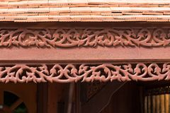 Traditional thai style roof and eave board Royalty Free Stock Photography