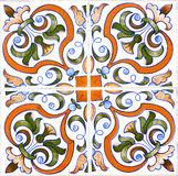 Detail of traditional tiles on facade of old house, Aveiro, Port Royalty Free Stock Photography