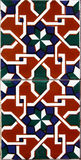 Detail of the traditional tiles from facade of old house in Valencia Stock Photo