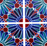 Detail of the traditional tiles from facade of old house in Valencia, Spain Royalty Free Stock Photos