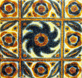 Detail of the traditional tiles from facade of old house in Valencia, Spain Stock Photos