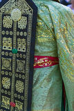 Detail of traditional wedding dress, in South Korea, for bride Royalty Free Stock Photo
