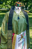 Detail of traditional wedding dress, in South Korea, for bride Stock Photo