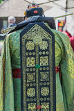Detail of traditional wedding dress, in South Korea, for bride Royalty Free Stock Images