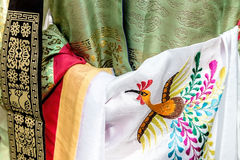 Detail of traditional wedding dress, in South Korea, for bride Royalty Free Stock Photography