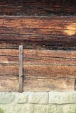 Detail on traditional wooden building Royalty Free Stock Image
