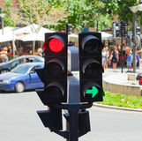 Detail of a Traffic Light. On crossroads of Palma de Mallorca Royalty Free Stock Photography