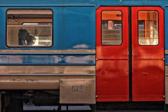 Detail of the train in Belgrade Royalty Free Stock Image