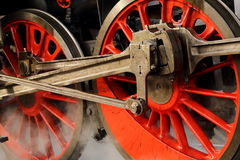 Detail of the train wheels Stock Photo