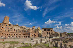 Detail of the Trajan market in Rome Stock Photos
