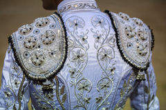 Detail of the traje de luces or bullfighter dress Royalty Free Stock Photo