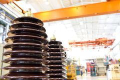 detail transformer in a factory for mechanical engineering production - closeup stock photography