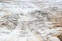 Detail of the travertine pools in Pamukkale, Royalty Free Stock Photography