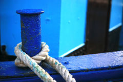 Detail of a trawler with rope Royalty Free Stock Photos