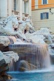 Detail of the Trevi fountain Royalty Free Stock Photo