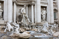 Detail Of Trevi Fountain In Rome Stock Images