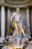 Detail of the Trevi Fountain in Rome. Stock Image
