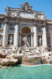 Detail of the Trevi Fountain. Rome, Italy. Stock Image