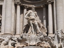 Detail of trevi fountain Royalty Free Stock Image