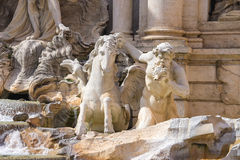 Detail of Trevi Fountain in Rome, Italy Royalty Free Stock Photos