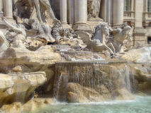 Detail from Trevi fountain Stock Photography
