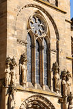Detail of Trier Cathedral, Germany. Detail of Trier Cathedral or Dom St. Peter, the oldest church in Germany. In 326 AD, Constantine, the first Christian emperor Stock Images